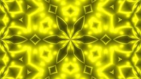 Αφηρημένο υπόβαθρο με Fractal VJ κίτρινος kaleidoscopic τρισδιάστατο δίνοντας ψηφιακό σκηνικό διανυσματική απεικόνιση