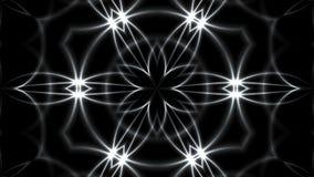 Αφηρημένο υπόβαθρο με Fractal VJ το ασήμι kaleidoscopic τρισδιάστατο δίνοντας ψηφιακό σκηνικό ελεύθερη απεικόνιση δικαιώματος