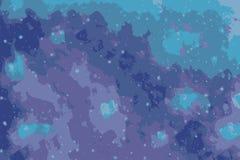 Αφηρημένο υπόβαθρο μιας έναστρης νύχτας με τα αστέρια και το γαλαξία ελεύθερη απεικόνιση δικαιώματος