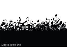 Αφηρημένο υπόβαθρο μουσικής με τις σημειώσεις,  Στοκ εικόνες με δικαίωμα ελεύθερης χρήσης