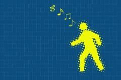 Αφηρημένο υπόβαθρο μουσικής Στοκ Εικόνα