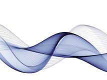 Αφηρημένο υπόβαθρο, μπλε κυματισμένες γραμμές για το φυλλάδιο, ιστοχώρος, σχέδιο ιπτάμενων διανυσματική απεικόνιση