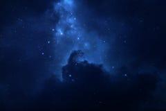 Έναστρο διαστημικό υπόβαθρο νυχτερινού ουρανού Στοκ εικόνα με δικαίωμα ελεύθερης χρήσης
