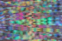 Αφηρημένο υπόβαθρο ουράνιων τόξων Bokeh με τη δυσλειτουργία κυμάτων καμπυλών στοκ εικόνες