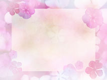 Αφηρημένο υπόβαθρο λουλουδιών με το διάστημα αντιγράφων του εγγράφου τ watercolor Στοκ Εικόνα