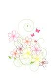 Αφηρημένο υπόβαθρο λουλουδιών διανυσματική απεικόνιση