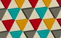 Αφηρημένο υπόβαθρο που αποτελείται από τα τρίγωνα Στοκ Εικόνα