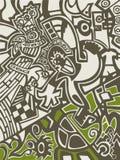 Αφηρημένο υπόβαθρο στο ύφος γκράφιτι Στοκ Φωτογραφίες