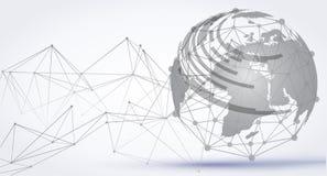 Αφηρημένο υπόβαθρο σφαιρών τεχνολογίας Σύνδεση παγκόσμιων δικτύων, διεθνές σημασία διάνυσμα έννοιας †« ελεύθερη απεικόνιση δικαιώματος
