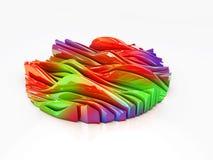 Αφηρημένο υπόβαθρο σχεδίου τοπίων χρώματος, τρισδιάστατη απεικόνιση ελεύθερη απεικόνιση δικαιώματος