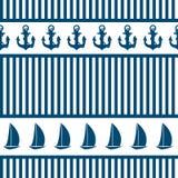 Αφηρημένο υπόβαθρο σχεδίων θάλασσας άνευ ραφής. Διάνυσμα Στοκ Φωτογραφία