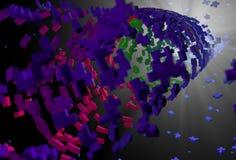 Αφηρημένο υπόβαθρο σωλήνων polygones Στοκ φωτογραφία με δικαίωμα ελεύθερης χρήσης