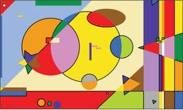 Αφηρημένο υπόβαθρο τέχνης με τα μέρη των χρωμάτων Στοκ Εικόνα