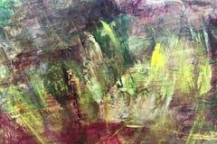Αφηρημένο υπόβαθρο τέχνης με τους παφλασμούς χρωμάτων των διαφορετικών χρωμάτων Στοκ Εικόνες