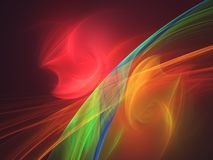 Αφηρημένο υπόβαθρο τέχνης ροής χρώματος Στοκ εικόνες με δικαίωμα ελεύθερης χρήσης