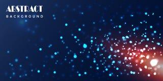 Αφηρημένο υπόβαθρο τεχνολογίας μορίων ελεύθερη απεικόνιση δικαιώματος