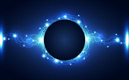 Αφηρημένο υπόβαθρο τεχνολογίας αστραπής, διανυσματική απεικόνιση Στοκ Εικόνα