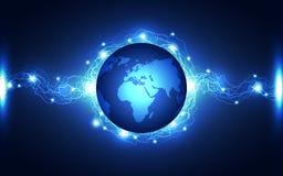 Αφηρημένο υπόβαθρο τεχνολογίας αστραπής, διανυσματική απεικόνιση Στοκ εικόνα με δικαίωμα ελεύθερης χρήσης