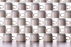 Αφηρημένο υπόβαθρο της ξήρανσης των φλυτζανιών καφέ Στοκ Εικόνες