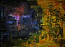 Αφηρημένο υπόβαθρο της χρωματισμένης grunge σύστασης των θολωμένων κηλίδων και των λεκέδων χρωμάτων στον κατασκευασμένο καμβά απεικόνιση αποθεμάτων