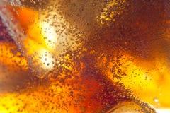 Αφηρημένο υπόβαθρο του μη αλκοολούχου ποτού και του πάγου Στοκ Εικόνες