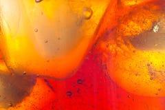 Αφηρημένο υπόβαθρο του μη αλκοολούχου ποτού και του πάγου Στοκ εικόνα με δικαίωμα ελεύθερης χρήσης