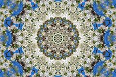 αφηρημένο υπόβαθρο του floral σχεδίου ενός καλειδοσκόπιου Στοκ εικόνα με δικαίωμα ελεύθερης χρήσης