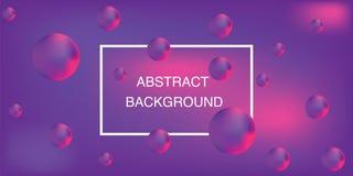 Αφηρημένο υπόβαθρο, τρισδιάστατες φυσαλίδες, φωτεινά χρώματα, διάνυσμα στοκ φωτογραφία