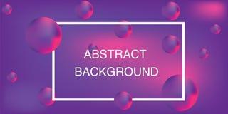 Αφηρημένο υπόβαθρο, τρισδιάστατες φυσαλίδες, φωτεινά χρώματα, διάνυσμα στοκ εικόνα με δικαίωμα ελεύθερης χρήσης