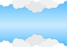 Αφηρημένο υπόβαθρο των άσπρων σύννεφων Στοκ εικόνα με δικαίωμα ελεύθερης χρήσης