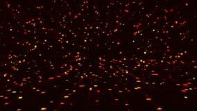 Αφηρημένο υπόβαθρο των καμμένος μορίων διανυσματική απεικόνιση