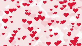 Αφηρημένο υπόβαθρο των κόκκινων καρδιών ελεύθερη απεικόνιση δικαιώματος