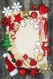 Αφηρημένο υπόβαθρο των συμβόλων Χριστουγέννων Στοκ φωτογραφία με δικαίωμα ελεύθερης χρήσης