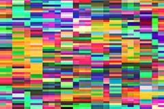 Αφηρημένο υπόβαθρο των τυχαία τακτοποιημένων λουρίδων του ψηφιακού θορύβου δυσλειτουργίας Στοκ Εικόνες