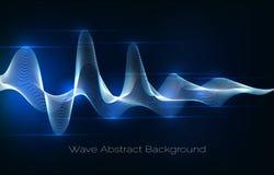 Αφηρημένο υπόβαθρο υγιών κυμάτων Ακουστική διανυσματική απεικόνιση κυματοειδούς Στοκ εικόνες με δικαίωμα ελεύθερης χρήσης