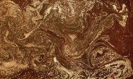 Αφηρημένο υπόβαθρο Υγρό μαρμάρινο σχέδιο γυαλισμένη μάρμαρο σύσταση επιφάνειας πετρών Χρυσό μαρμάρινο σκηνικό σκόνης Στοκ Φωτογραφία