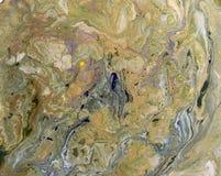 Αφηρημένο υπόβαθρο Υγρό μαρμάρινο χρυσό σχέδιο Ζωηρόχρωμο μαρμάρινο σκηνικό Στοκ Φωτογραφία