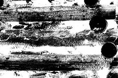 Αφηρημένο υπόβαθρο φιαγμένο από μμένα κούτσουρα με τη λεπτομερή γραφική δομή μαύρο λευκό απεικόνιση αποθεμάτων