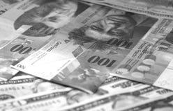 Αφηρημένο υπόβαθρο φράγκων δολαρίων ευρο- ελβετικό γραπτό στοκ φωτογραφίες με δικαίωμα ελεύθερης χρήσης