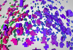 Αφηρημένο υπόβαθρο φυσήματος polygones σφαιρών ζωηρόχρωμο Στοκ Εικόνες