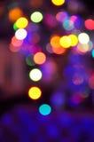Αφηρημένο υπόβαθρο φω'των Χριστουγέννων Defocused Στοκ Φωτογραφία