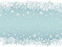 Αφηρημένο υπόβαθρο Χριστουγέννων με τα άσπρα snowflake σύνορα απεικόνιση αποθεμάτων