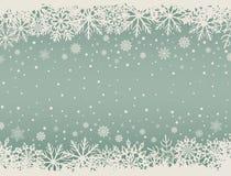 Αφηρημένο υπόβαθρο Χριστουγέννων με snowflake τα σύνορα διανυσματική απεικόνιση