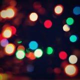 Αφηρημένο υπόβαθρο Χριστουγέννων, σύσταση Χριστουγέννων από τα φω'τα χρώματος για το χριστουγεννιάτικο δέντρο Στοκ Εικόνες