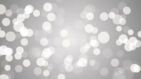Αφηρημένο υπόβαθρο bokeh μορίων άσπρο και ασημένιο απόθεμα βίντεο