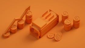 Αφηρημένο υπόβαθρο Cryptocurrency Στοκ Φωτογραφίες