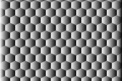 Αφηρημένο υπόβαθρο hexahedron στοκ εικόνες