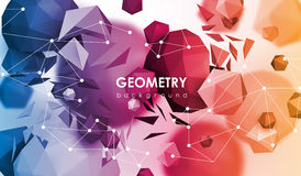Αφηρημένο υπόβαθρο poligonal η τρισδιάστατη απεικόνιση δίνει Γεωμετρικό υπόβαθρο με τα χαμηλός-πολυ στοιχεία Διανυσματική απεικόνιση