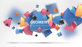 Αφηρημένο υπόβαθρο poligonal η τρισδιάστατη απεικόνιση δίνει Γεωμετρικό υπόβαθρο με τα χαμηλός-πολυ στοιχεία Απεικόνιση αποθεμάτων