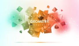Αφηρημένο υπόβαθρο poligonal η τρισδιάστατη απεικόνιση δίνει Γεωμετρικό υπόβαθρο με τα χαμηλός-πολυ στοιχεία Ελεύθερη απεικόνιση δικαιώματος